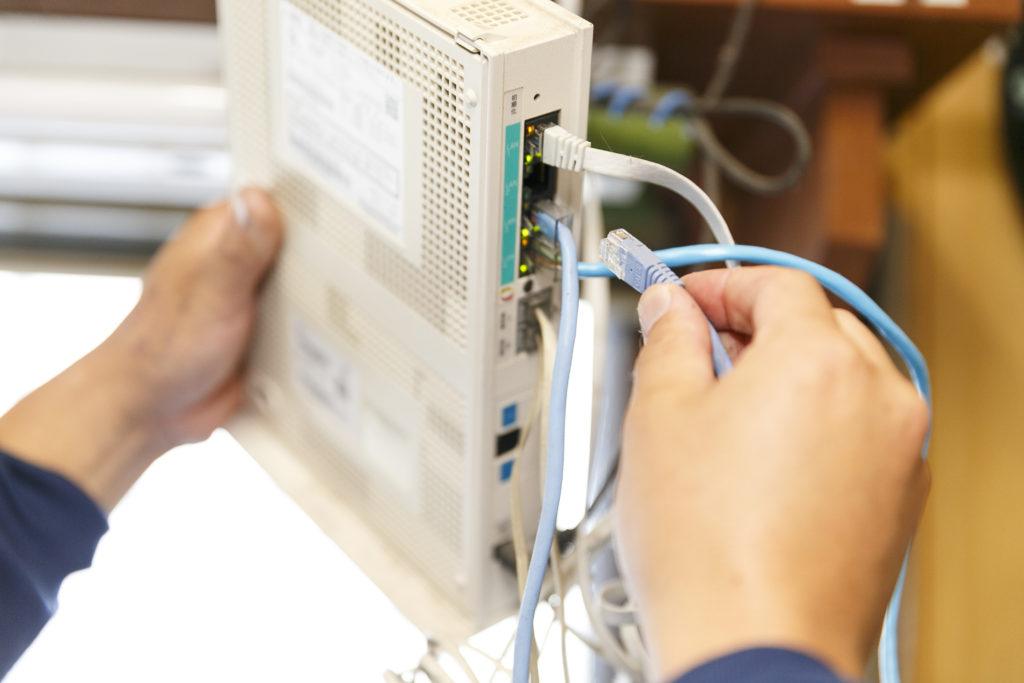 事業所内LANの設定・配線